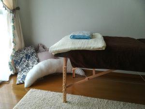 サロンのベッド